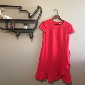 Super cute Hot pink Eliza J Swift dress w/ ruffle